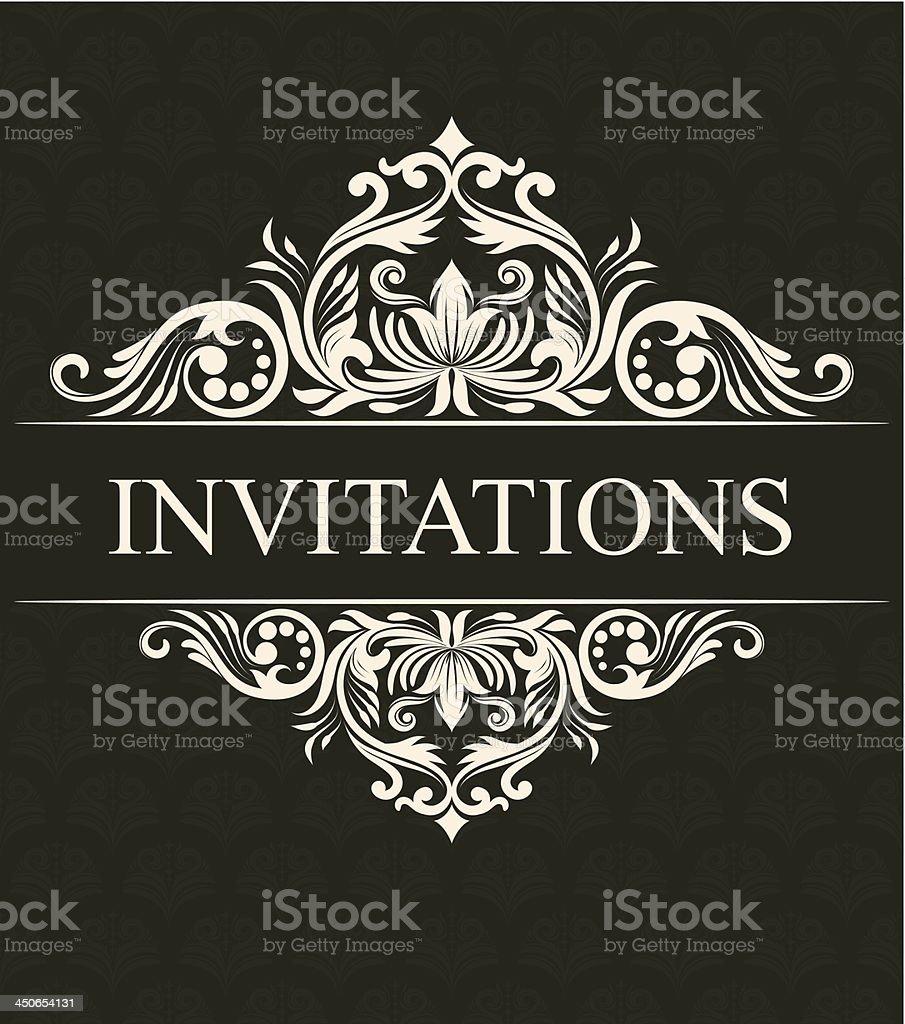 Invitations Ornament vector art illustration