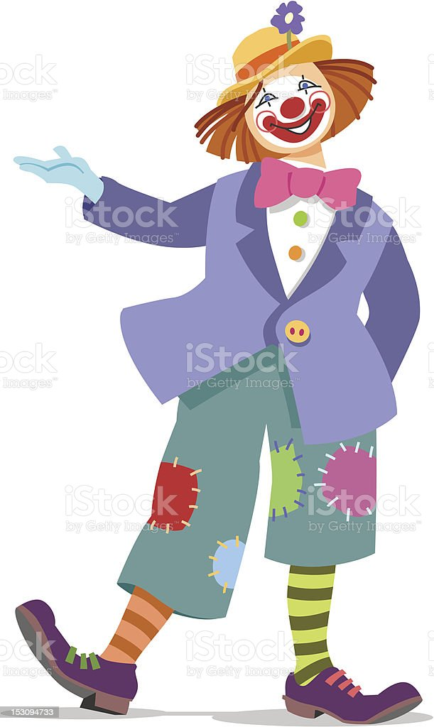 Inviting clown royalty-free stock vector art