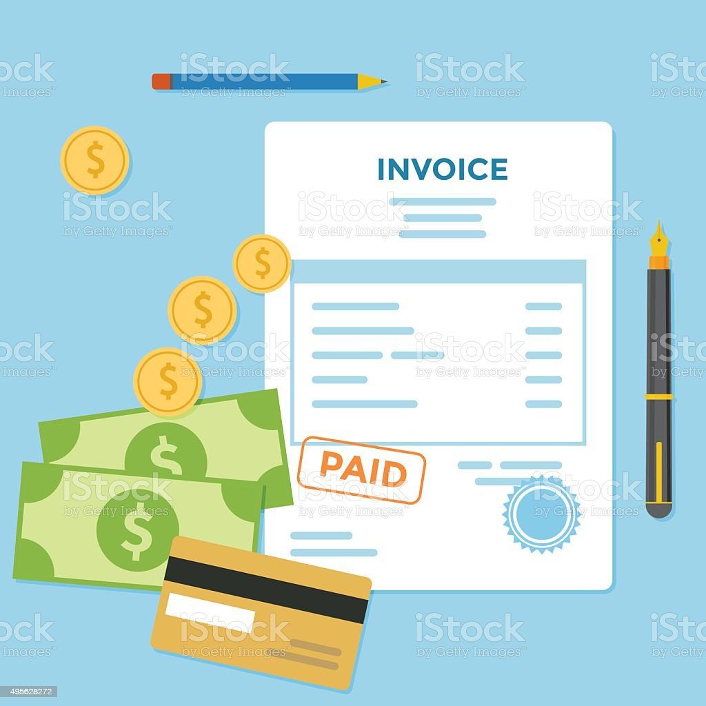 Invoice Bill vector art illustration