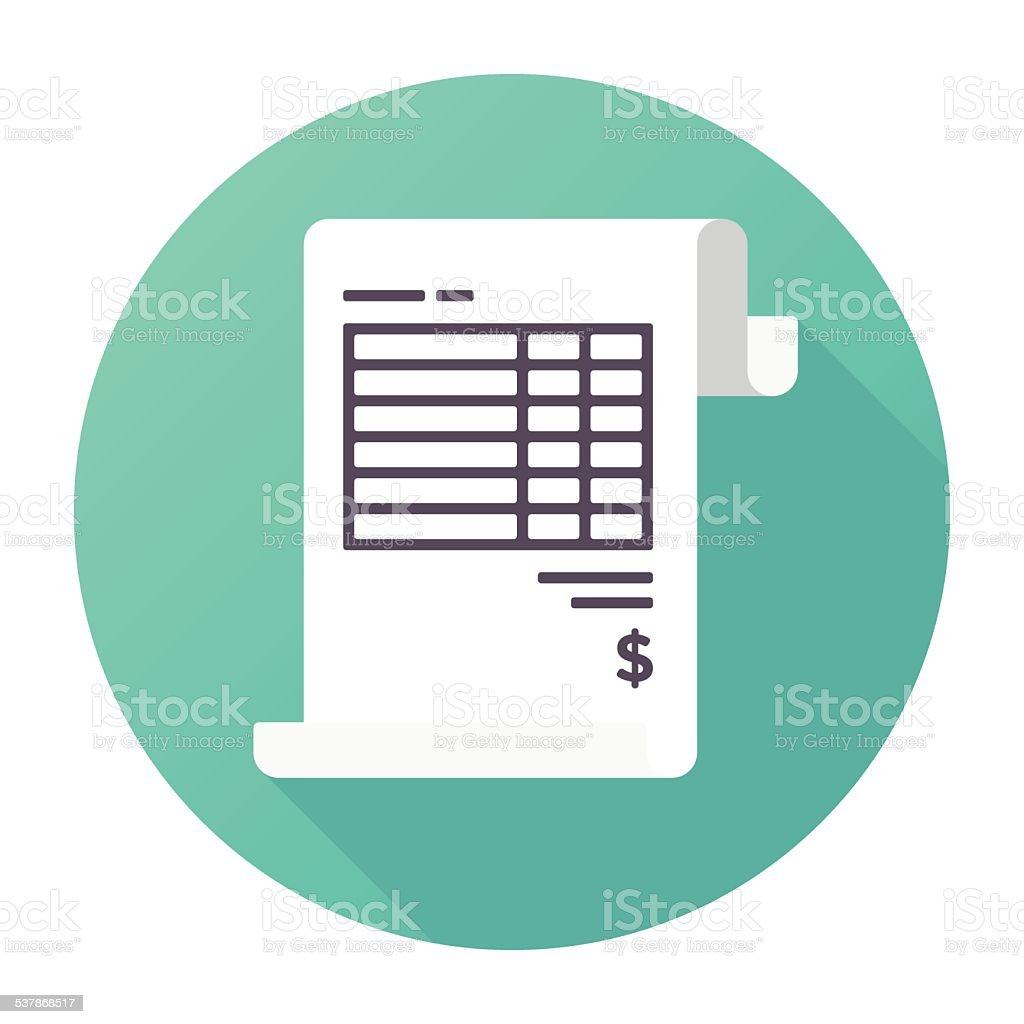 Invoice Icon vector art illustration