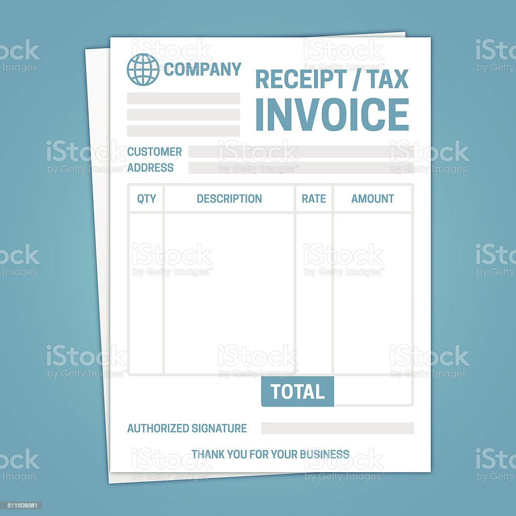 invoice template stock vector art 511509381 istock buy single word credit card data financial figures paid invoice template