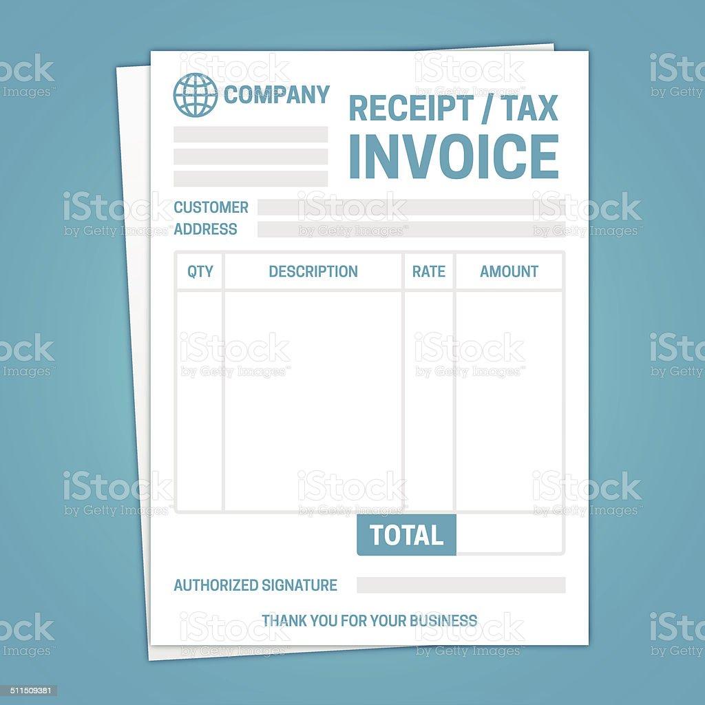 Invoice Template vector art illustration