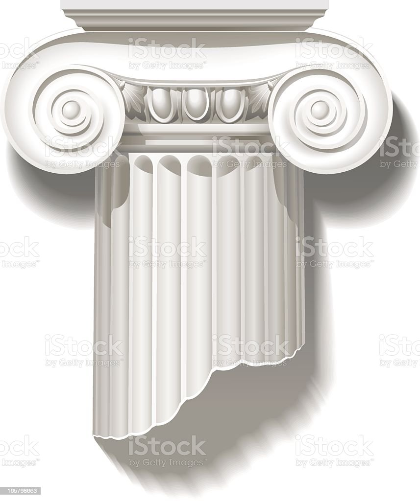 Ionic capital royalty-free stock vector art