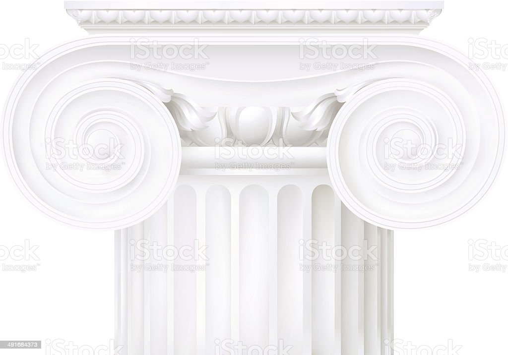 ionic capital vector art illustration