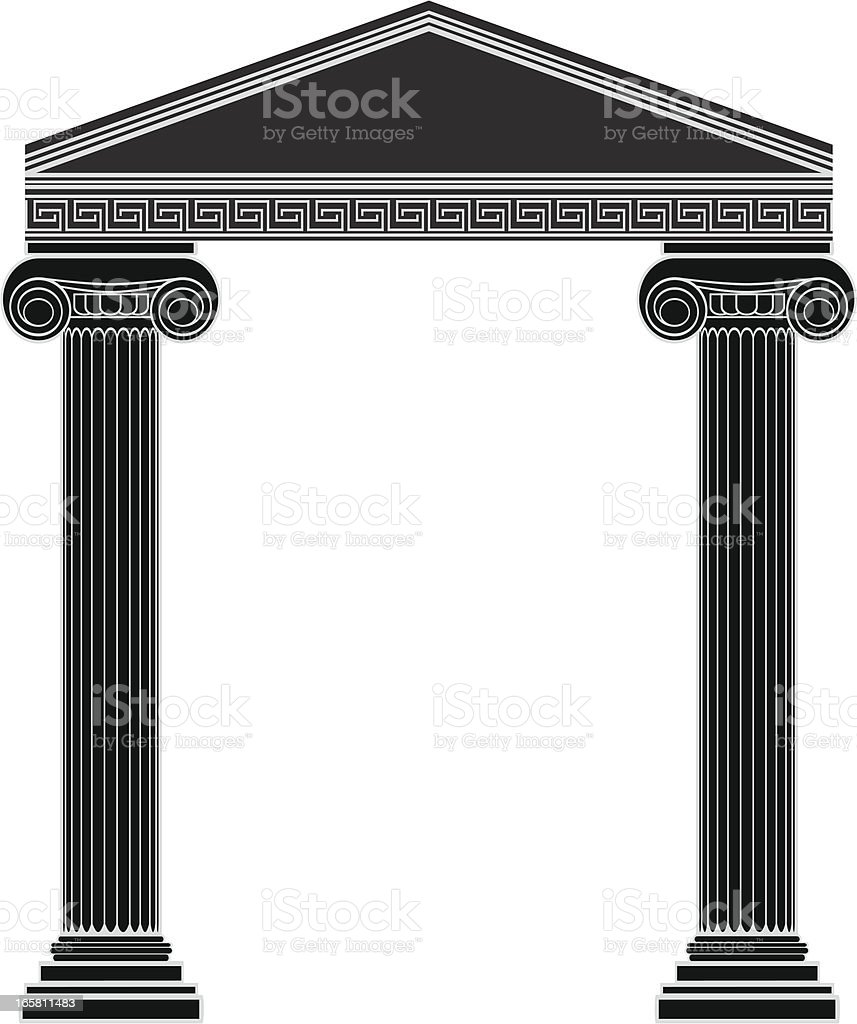 Ionic Cornice royalty-free stock vector art