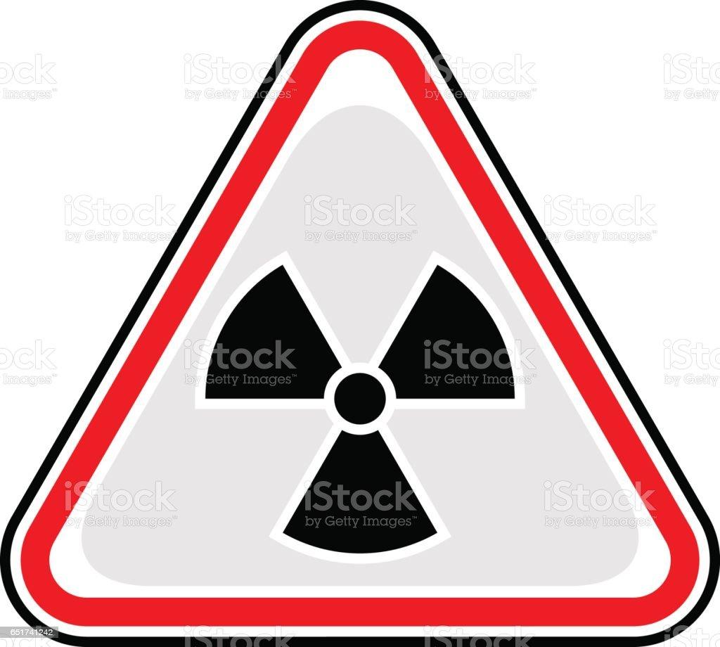 Ionising Radiation Sign Triangular Sticker vector art illustration