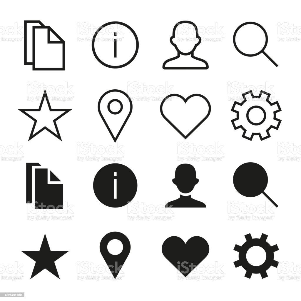 ios 7 icons set royalty-free stock vector art