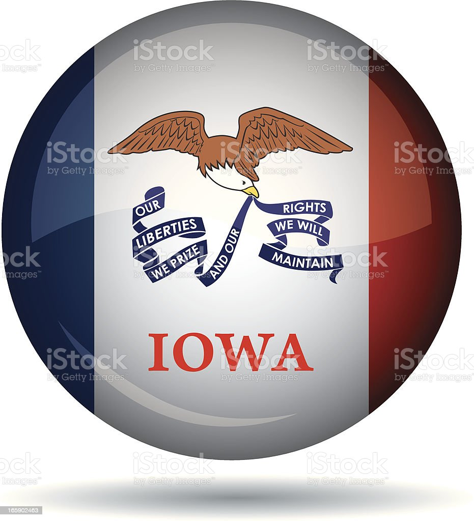 Iowa flag royalty-free stock vector art