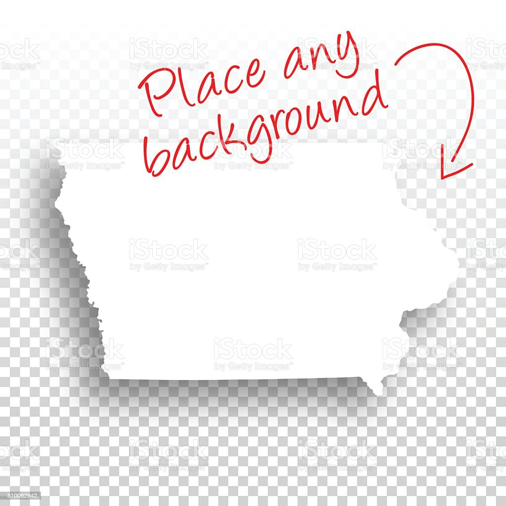 Iowa Map for design - Blank Background vector art illustration