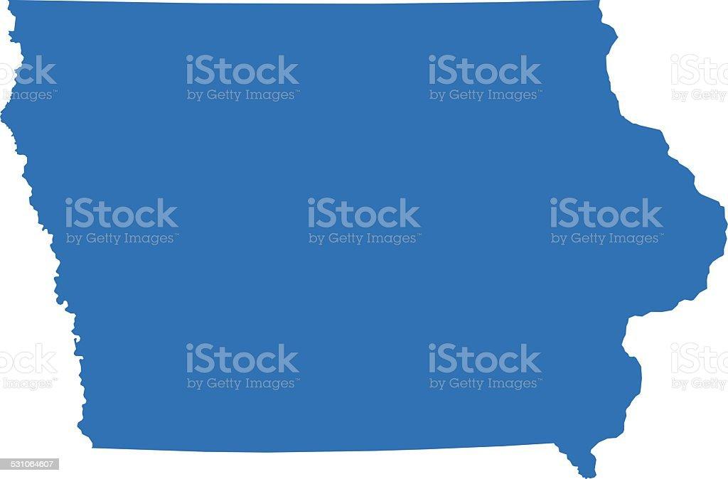 Iowa Map vector art illustration