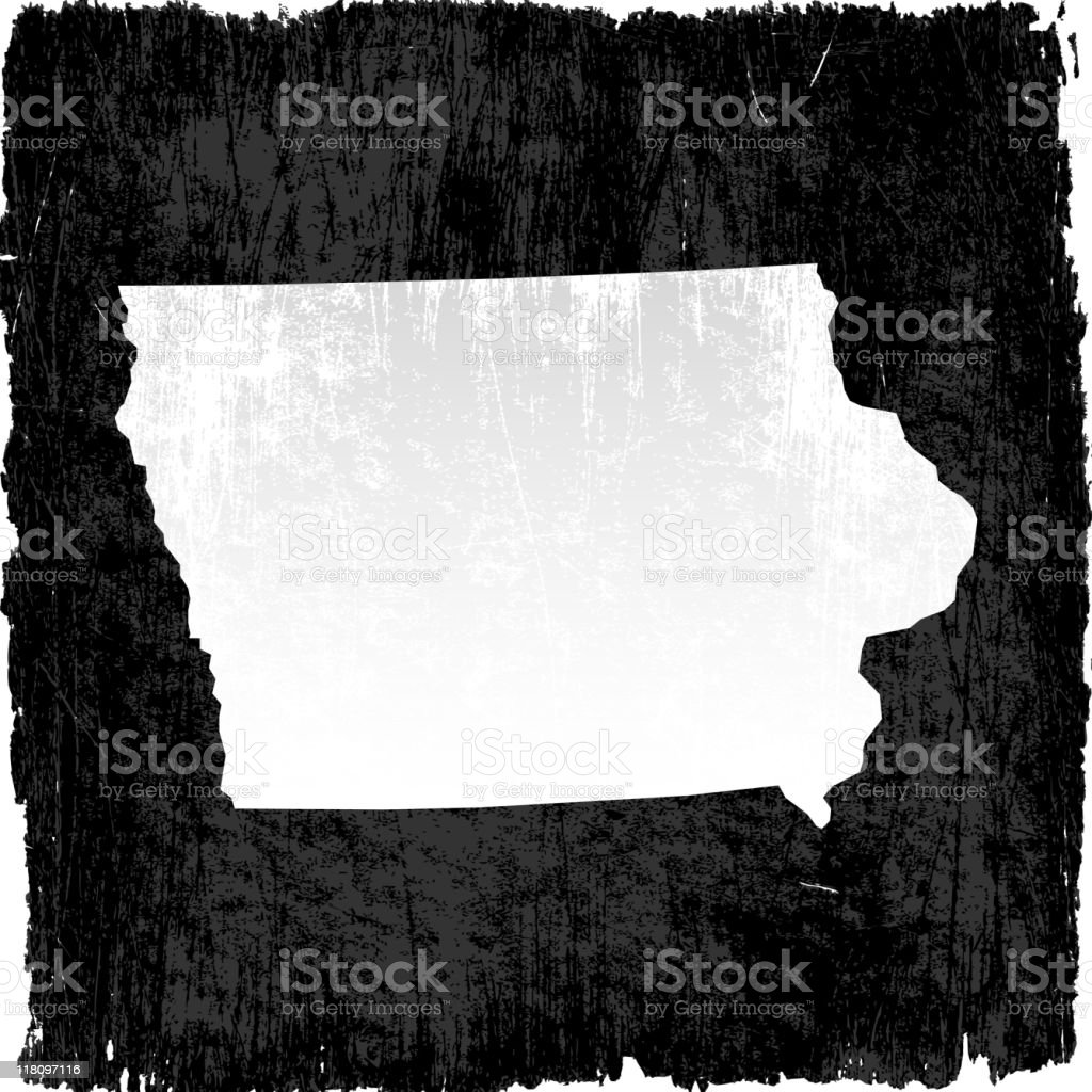 Iowa on grunge background royalty-free stock vector art