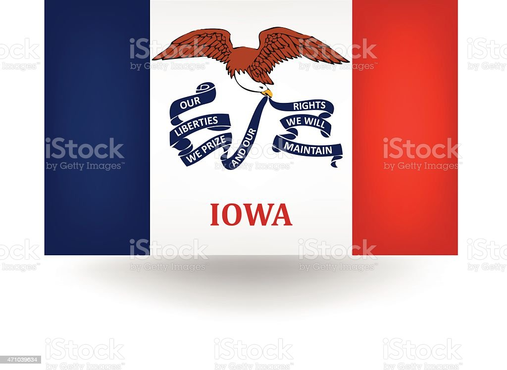 Iowa State Flag vector art illustration