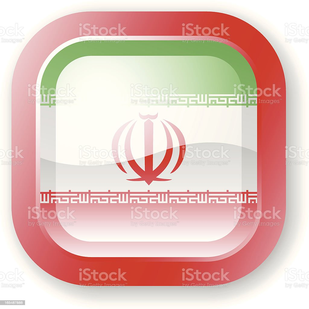 Iran Flag Icon royalty-free stock vector art