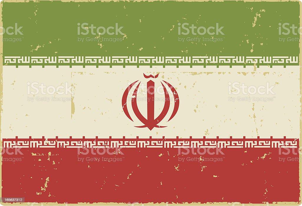 Iranian Flag vector art illustration