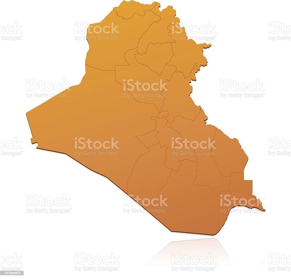 Iraq map orange royalty-free stock vector art