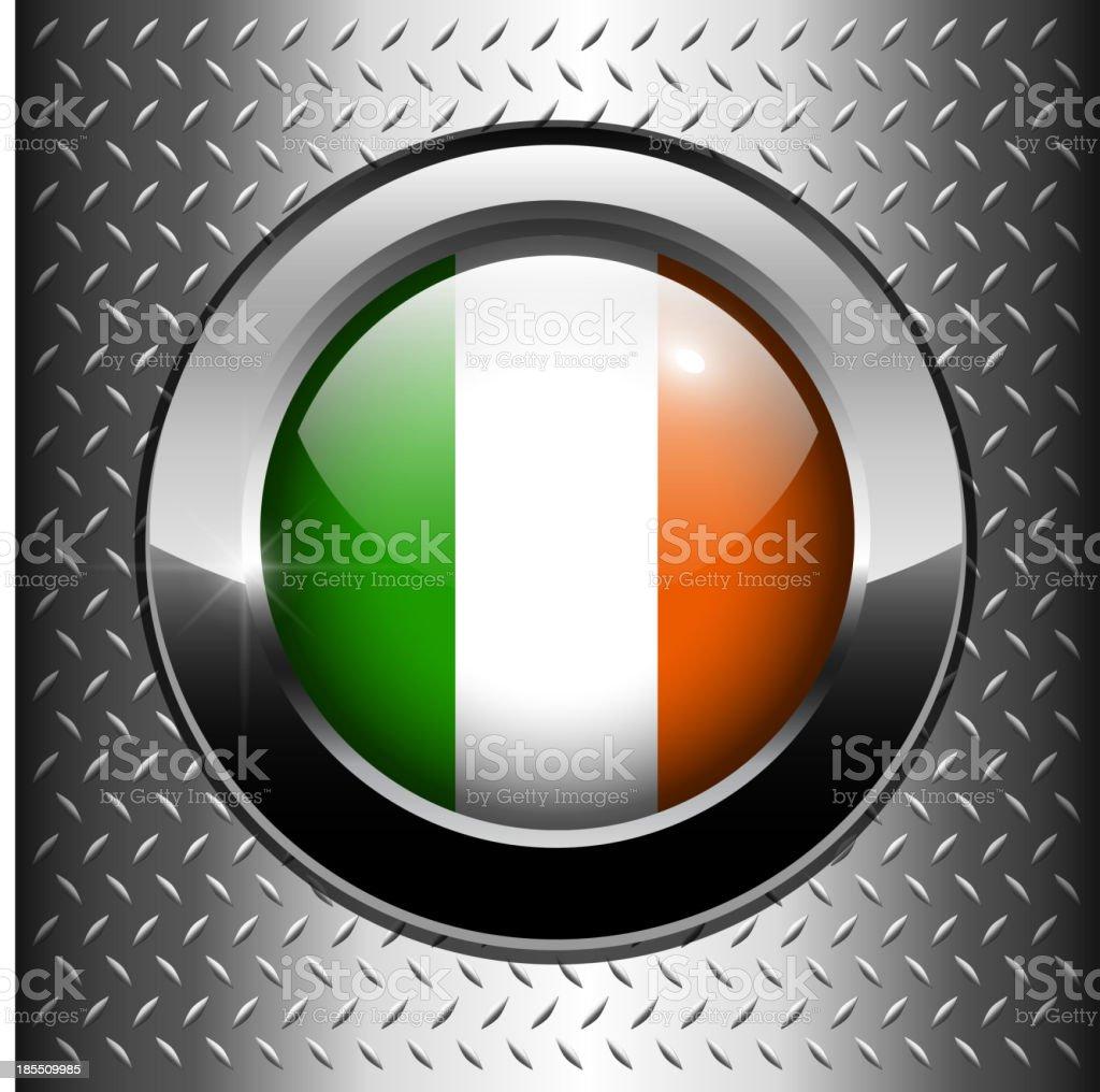 Ireland flag button royalty-free stock vector art