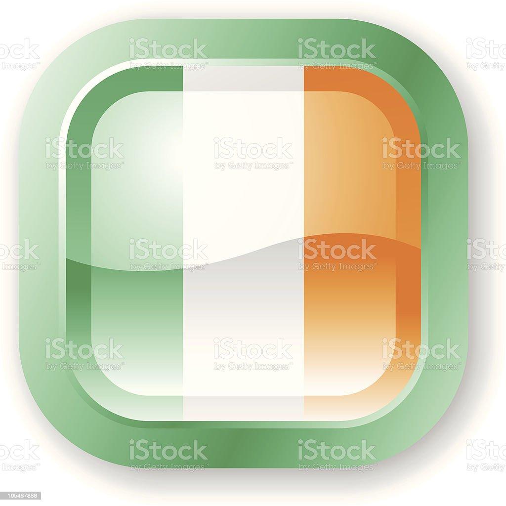 Ireland Flag Icon royalty-free stock vector art