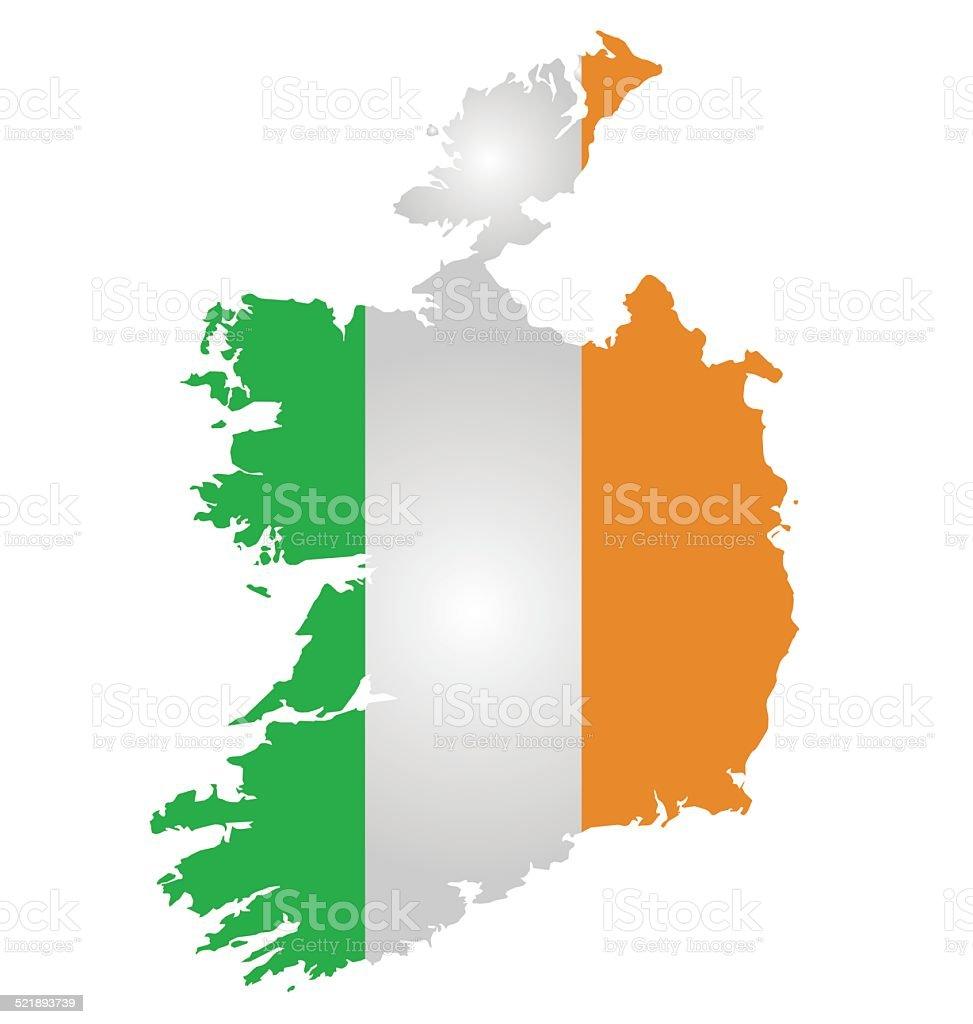 Ireland Flag vector art illustration