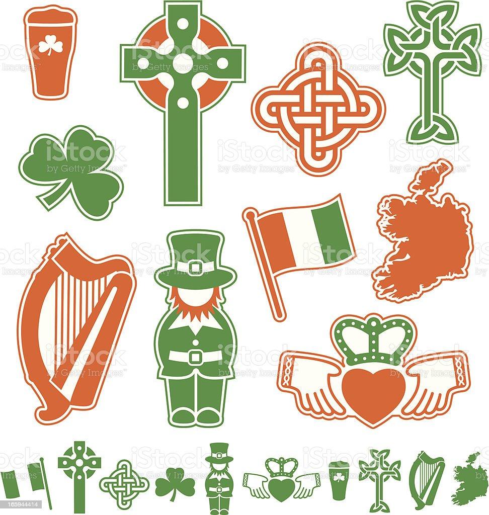 Ireland Icons royalty-free stock vector art