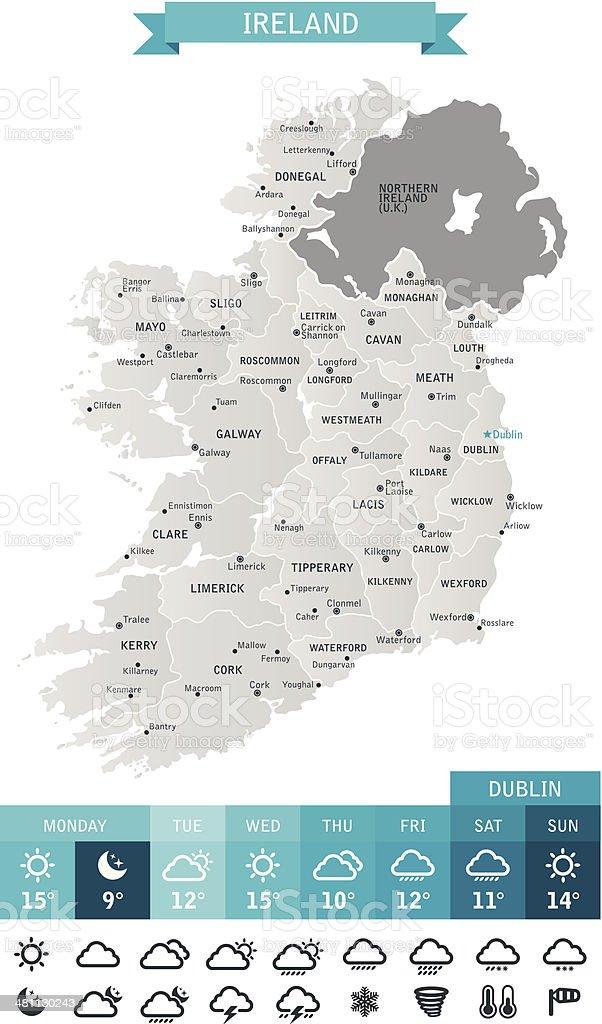Ireland vector art illustration