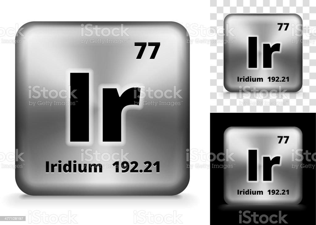 Iridium Square Element Background Set royalty-free stock vector art