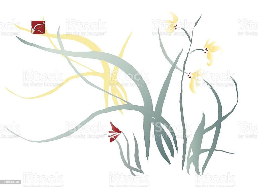 Iris Flower royalty-free stock vector art