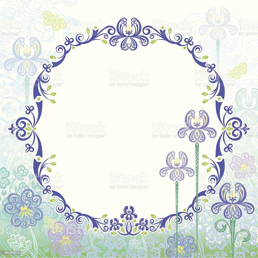 Iris Frame royalty-free stock vector art