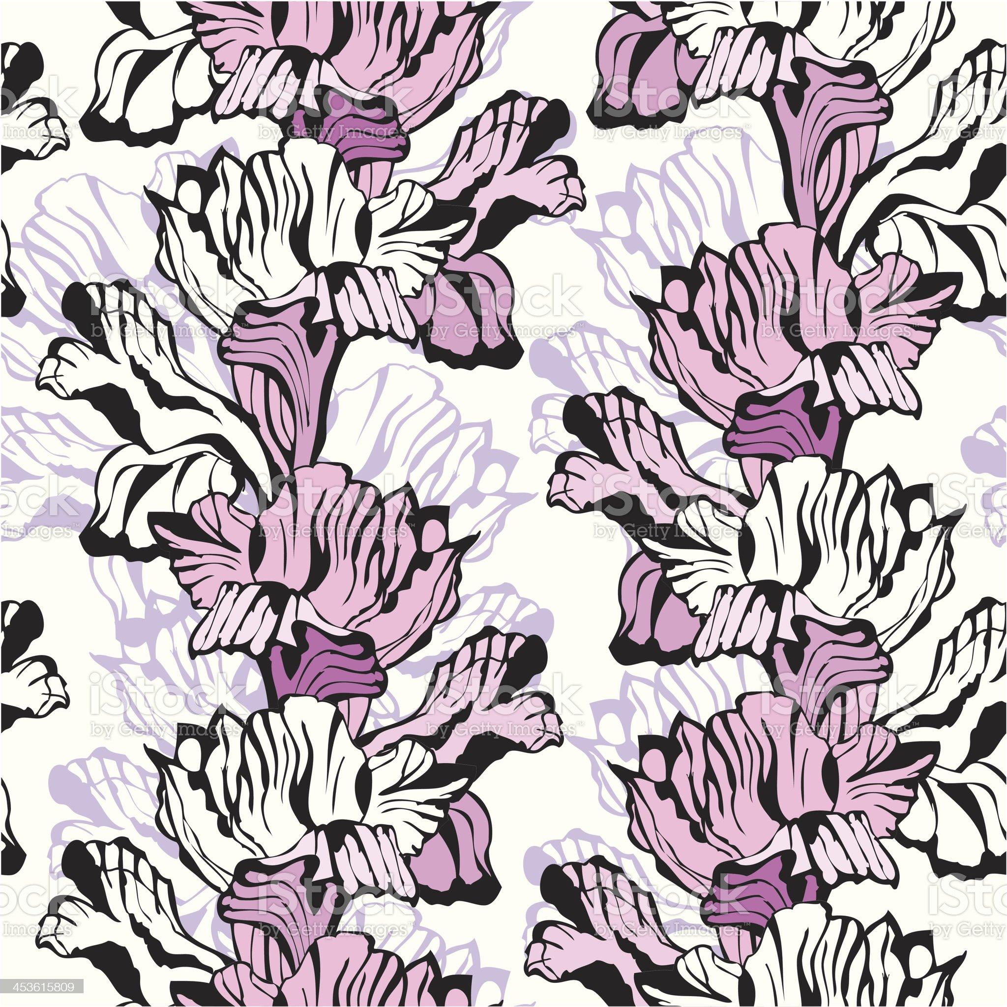 Iris seamless ornament royalty-free stock vector art