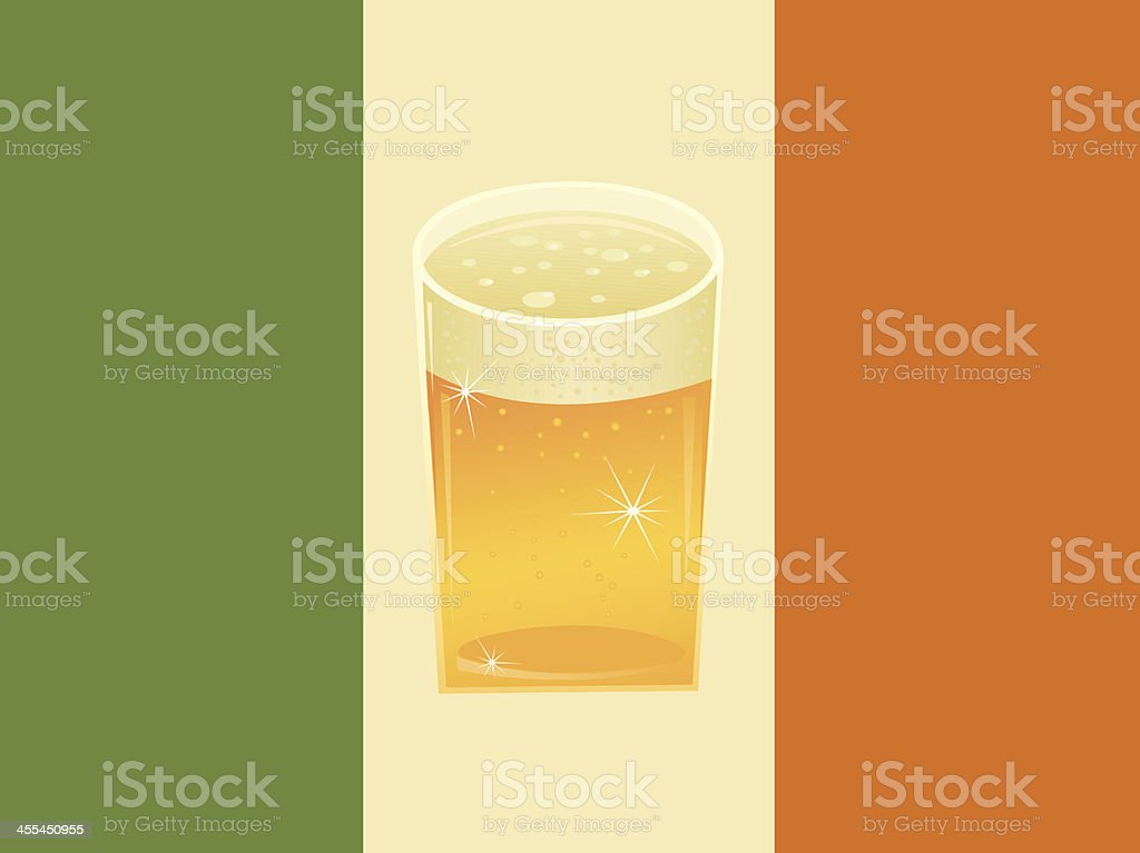 Irish Beer Flag royalty-free stock vector art