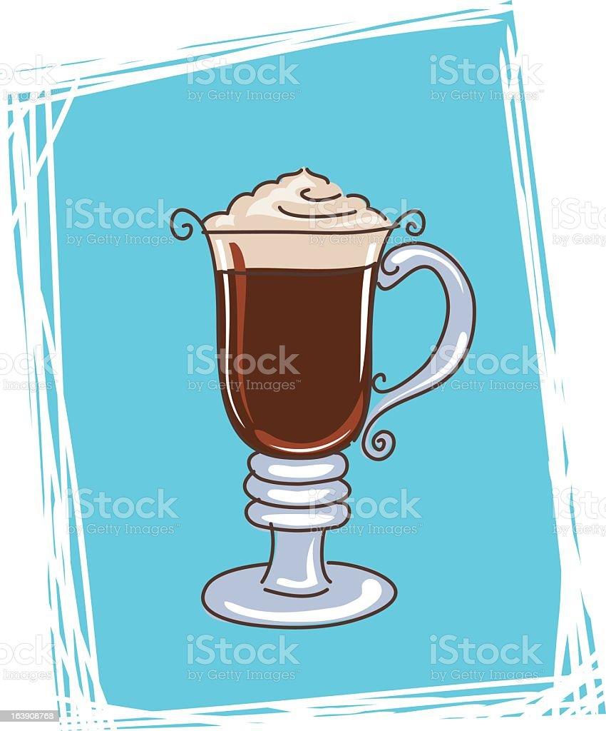 Irish Coffee Icon royalty-free stock vector art