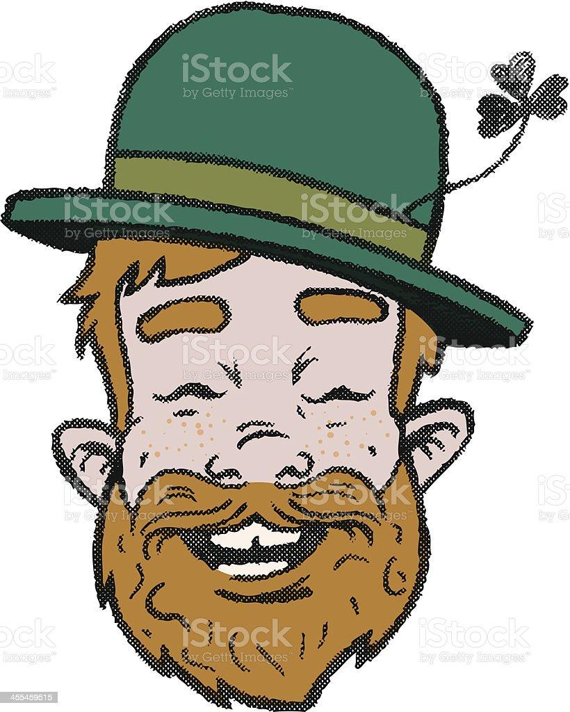 Irish drunk royalty-free stock vector art