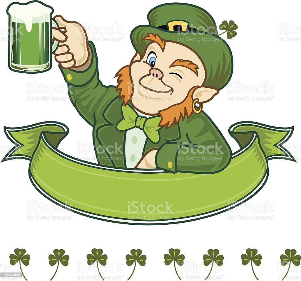 Irish Leprechaun Toast To You royalty-free stock vector art