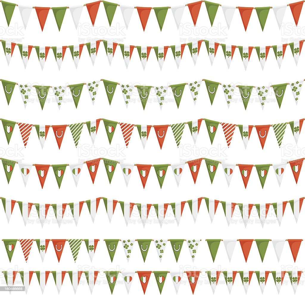 irish party bunting royalty-free stock vector art
