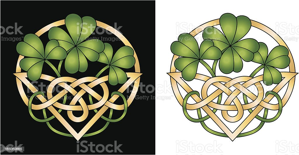 Irish Shamrockceltic Knot 4 Leaf Clover Good Luck Design ...