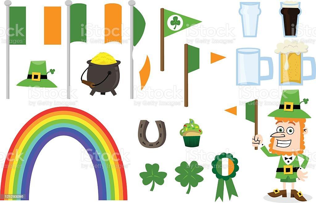 Irish St Patrick's Day Set royalty-free stock vector art