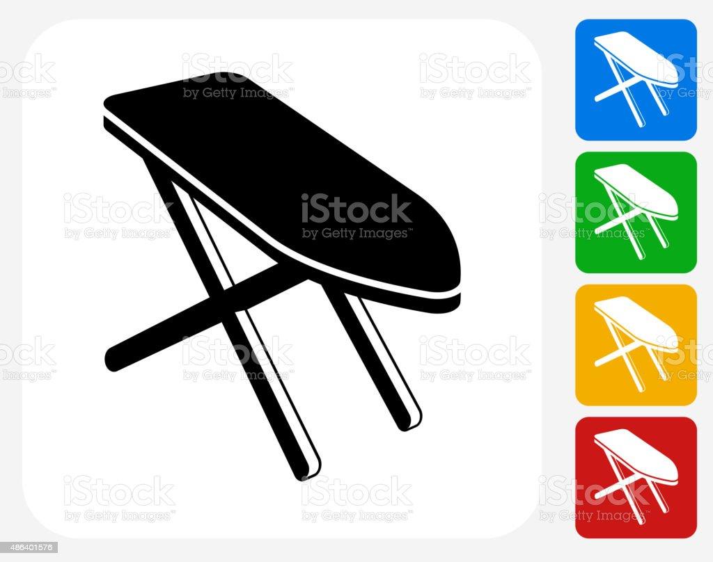 Iron Board Icon Flat Graphic Design vector art illustration