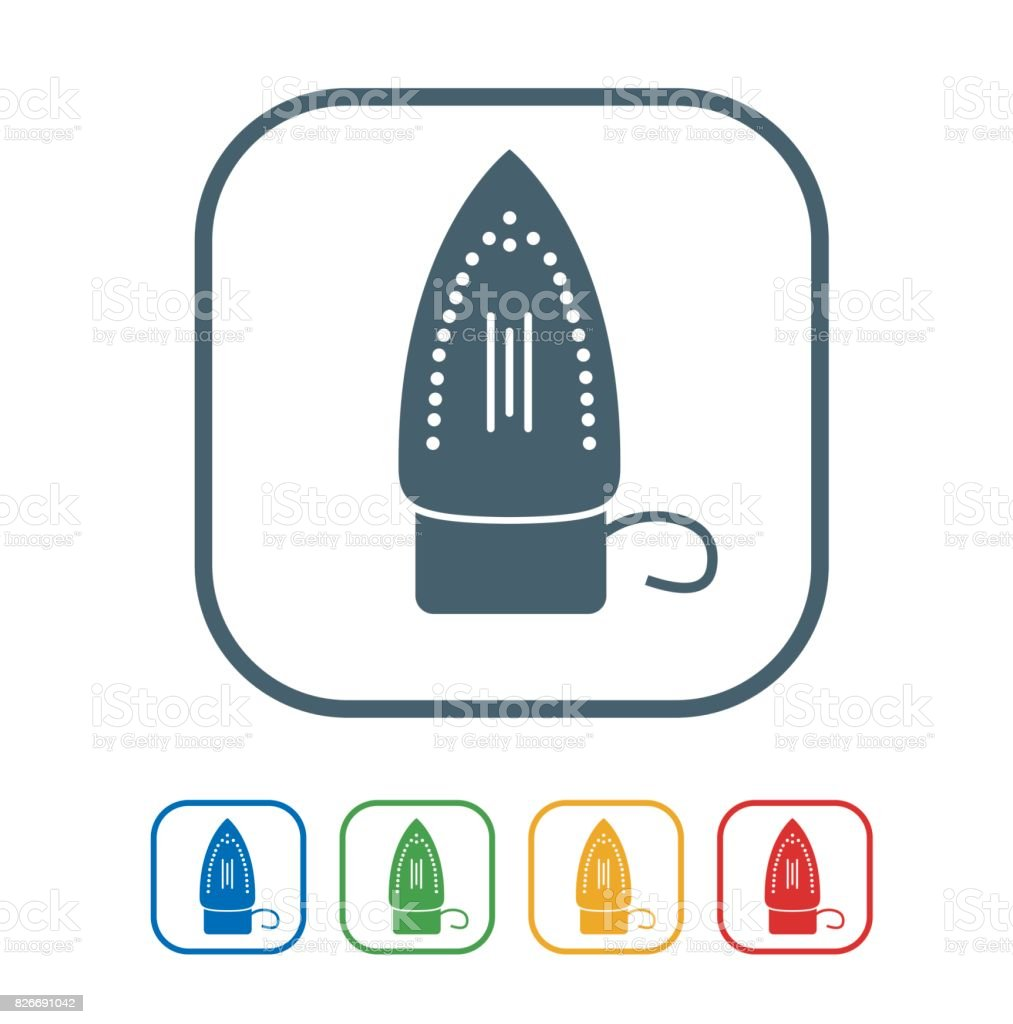 Iron flat Icon Isolated on White Background.vector illustration icon vector art illustration