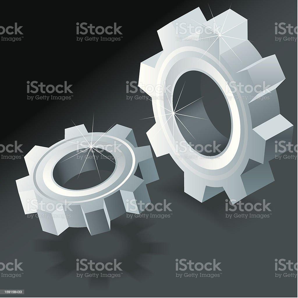 Iron gears royalty-free stock photo