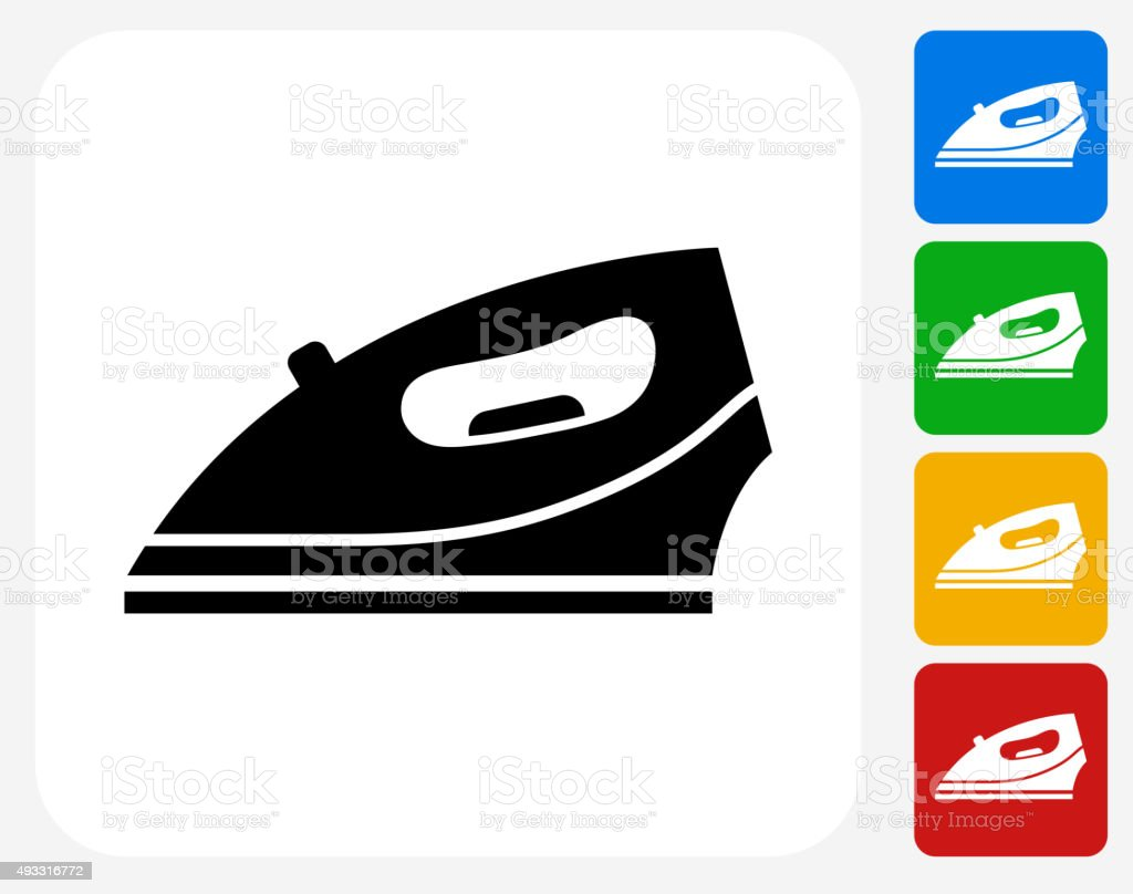 Iron Icon Flat Graphic Design vector art illustration