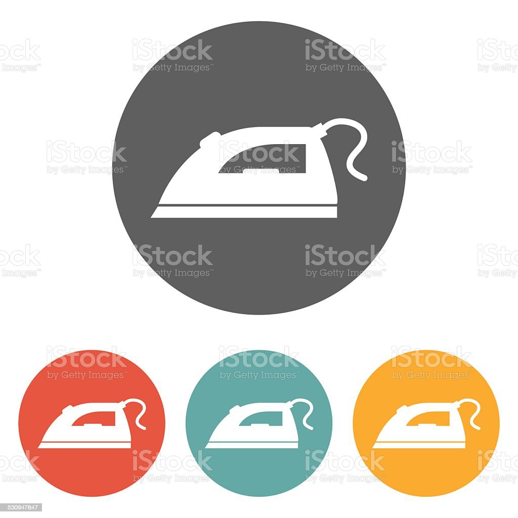iron icon vector art illustration
