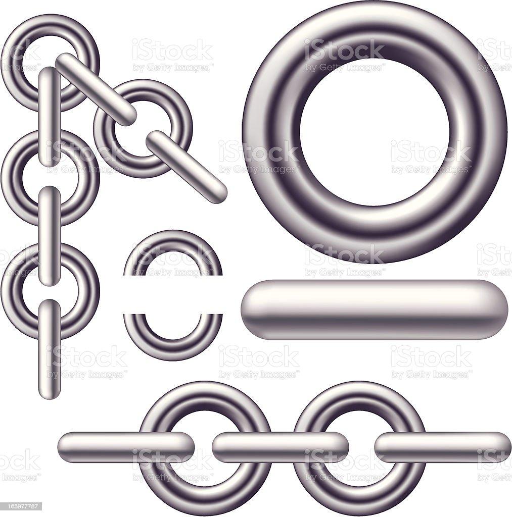 Iron Rings vector art illustration
