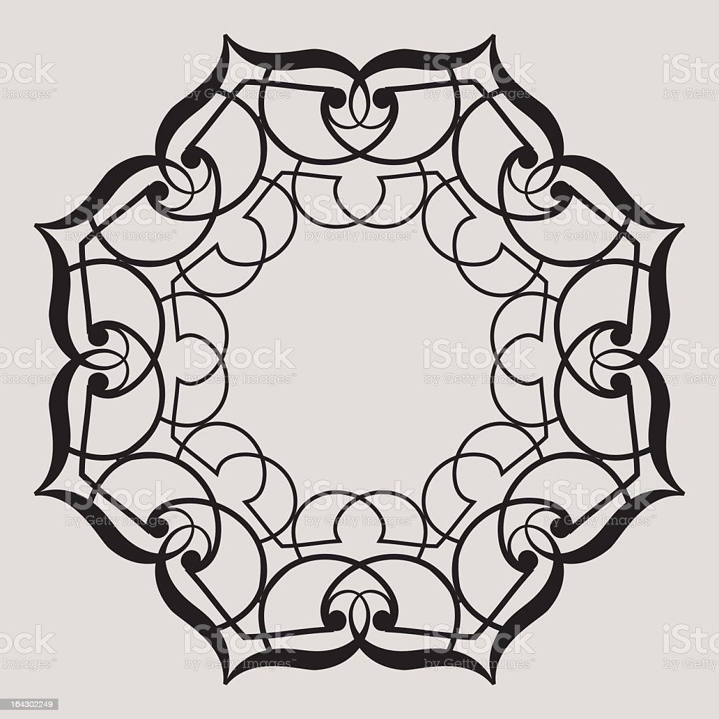 Iron Rosette royalty-free stock vector art