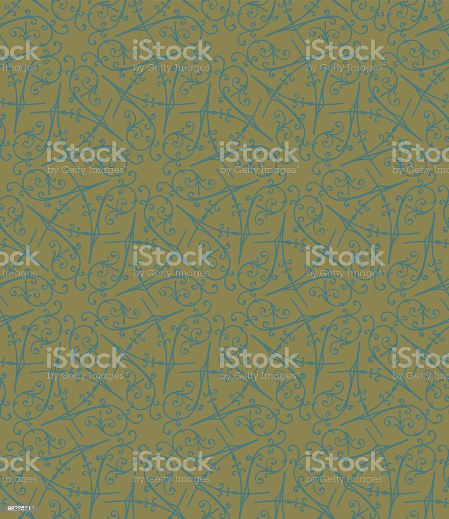 Ironwork Wallpaper royalty-free stock vector art