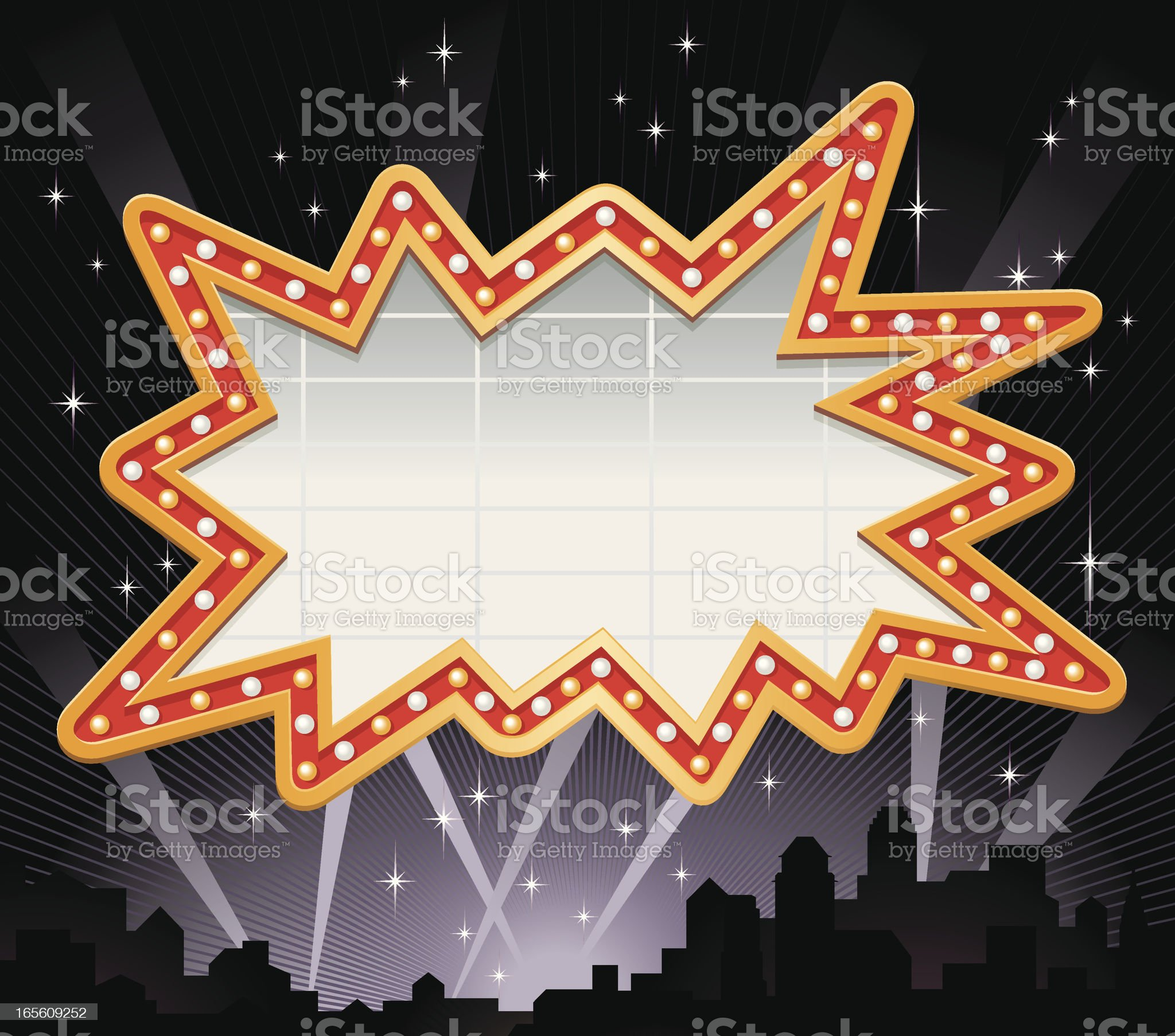 Irregular Shape Marquee Frame Vector royalty-free stock vector art