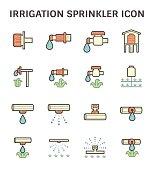 Irrigation sprinkler icon