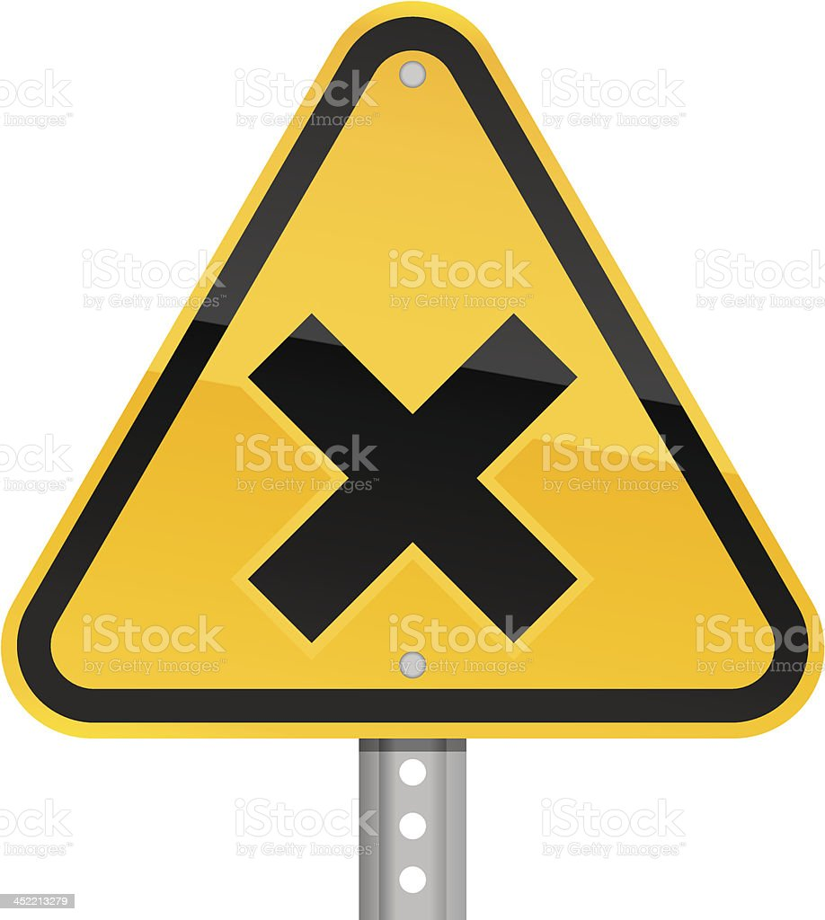 Irritant black pictogram warning triangle yellow road sign royalty-free stock vector art