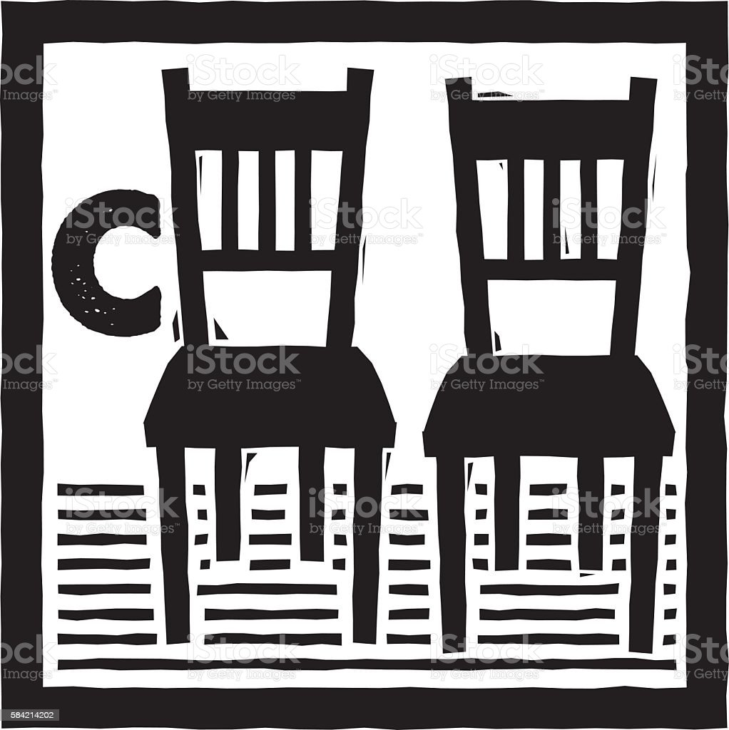 C is for Chair vector art illustration