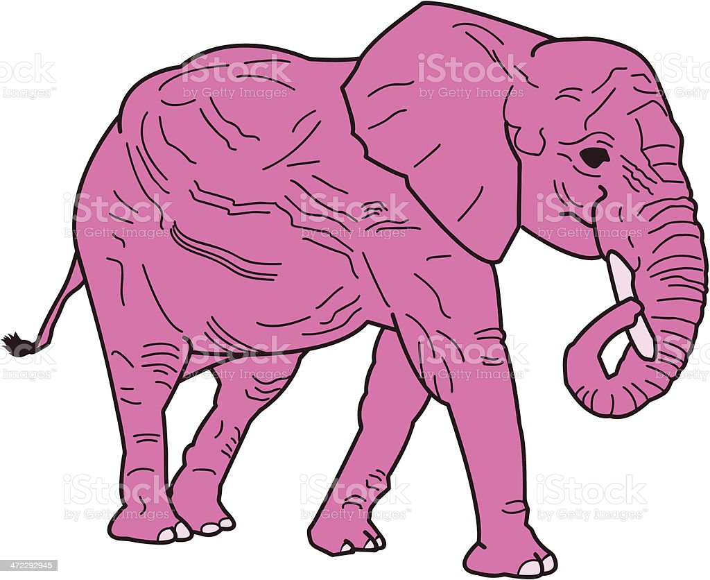 Is that a Pink Elephant ? royalty-free stock vector art