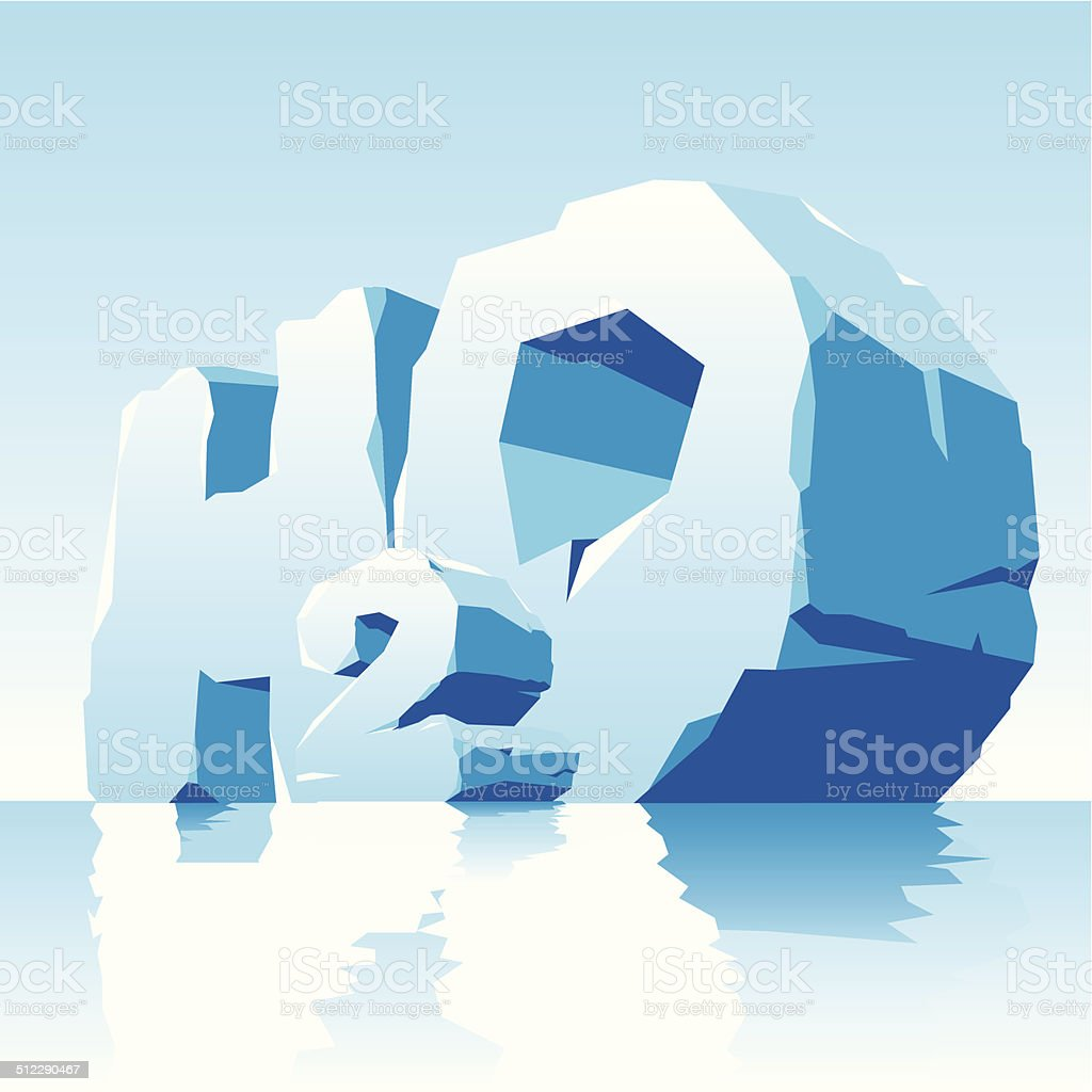 ise water symbol H2O vector art illustration
