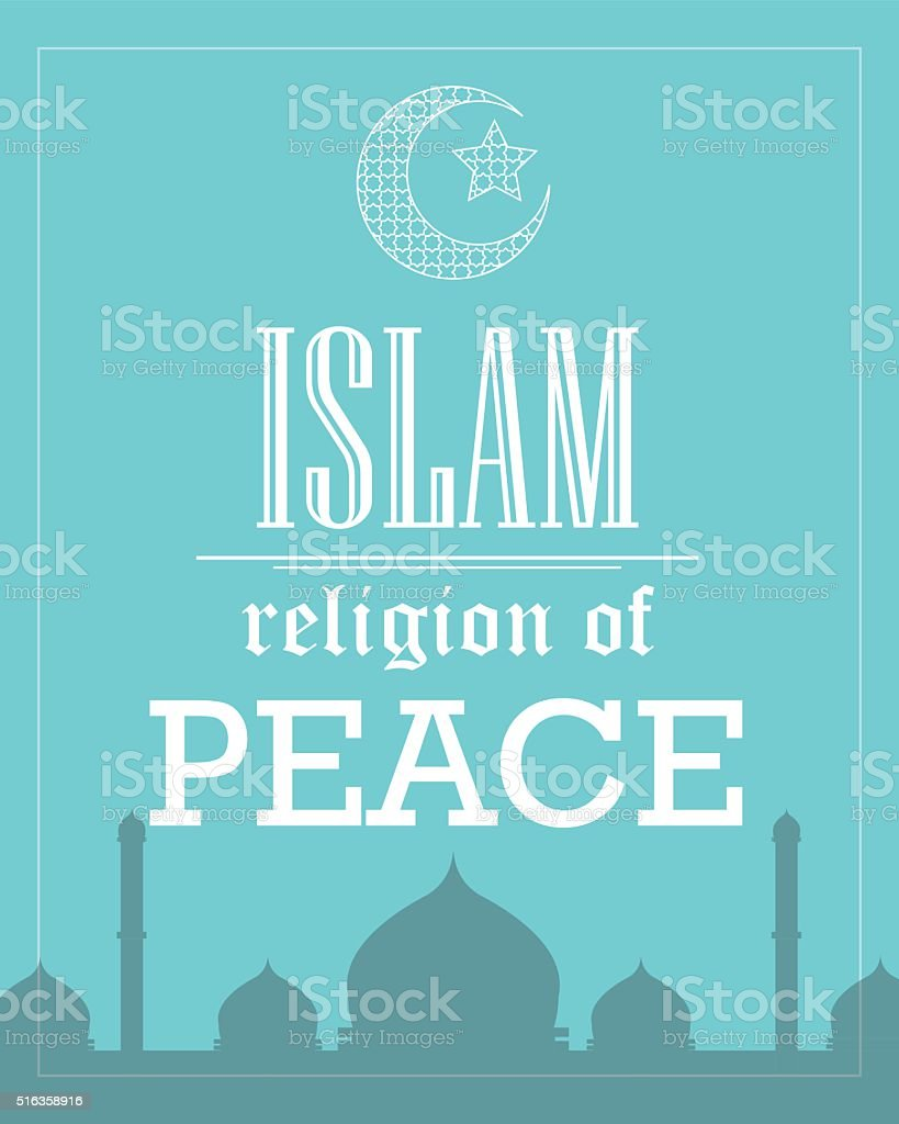islam religion of peace poster template flat vector stock vector 1 credit
